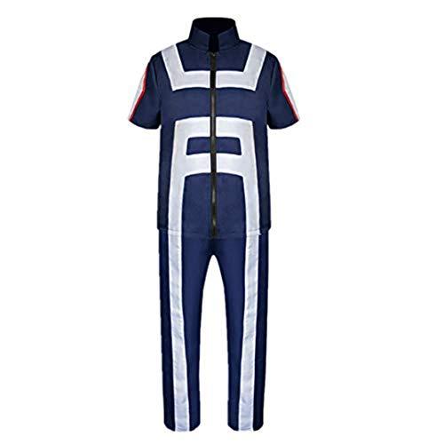 My Hero Academia Boku No Hero Academia Izuku Midoriya Gymnastics Suit Cosplay Costume Training Suit Uniform Sportswear (Large)
