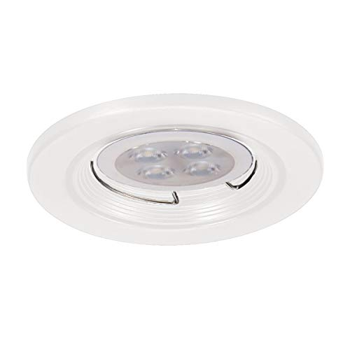 (WAC Lighting HR-836LED-WT 2.5in Round Downlight Trim LED Recessed Light, 2.5