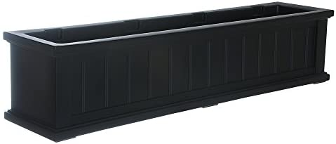 Mayne 4841-B Cape Cod Polyethylene Window Box, 4 , Black