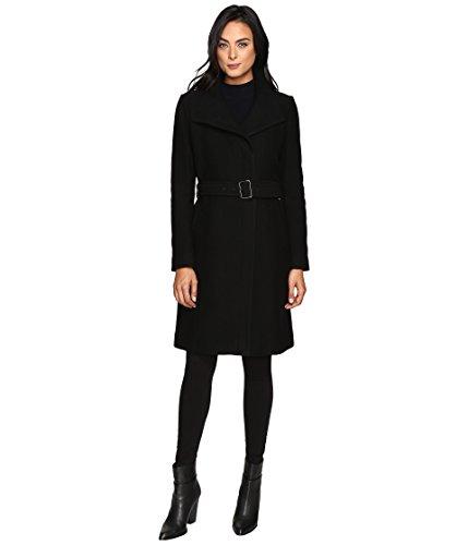 Coat Italian Wool (Cole Haan Belted Italian Wool Coat Black (14))