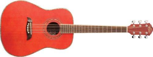 Oscar Schmidt OG1 3/4-Size Acoustic Guitar - Transparent Red