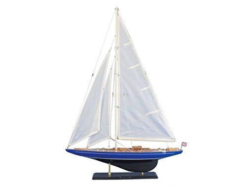 Hampton Nautical Wooden Velsheda Model Sailing Yacht, 35