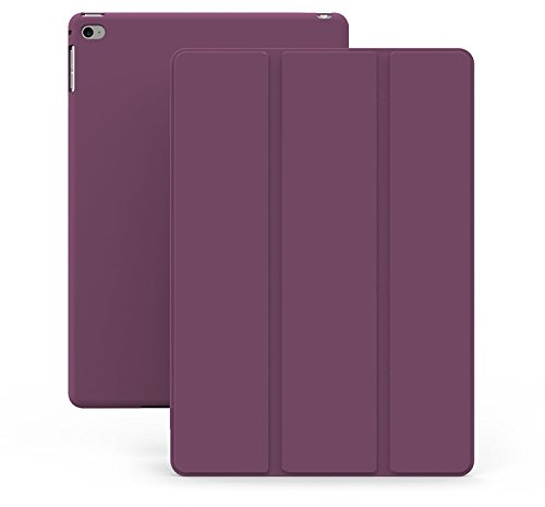 KHOMO iPad Air 2 Case - DUAL Series - ULTRA Slim Cover with Auto Sleep Wake Feature for Apple iPad Air 2nd Generation Tablet, Purple (ip-air-2-purple-2)