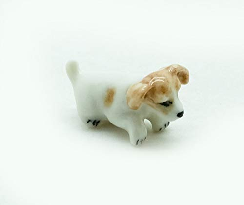 - Grandroomchic Dollhouse Animal Miniature Handmade Porcelain Statue Ceramic Decorative 1/24 Scale Tiny Puppy Jack Russell Terrier Dog Figurine Collectibles Gift