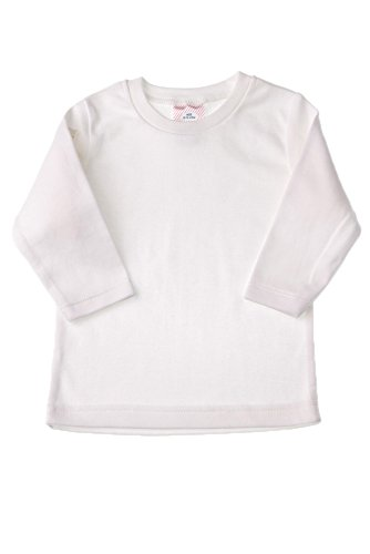 Baby Jay Unisex Baby Toddler Long Sleeve T-shirt - Girls Plain Long Sleeve Tshirts