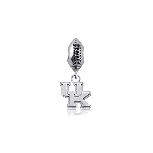 (University of Kentucky Wildcats UK Sterling Silver Jewelry by Dayna Designs (Football Charm Bead))