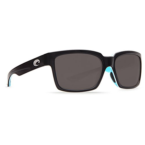 Costa Del Mar Playa Polarized Sunglasses Black/White/Aqua Blue