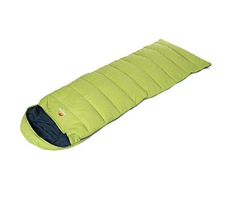 Tofern Koppelbarer Outdoor Daunen-Hohle Baumwolle Schlafsack mit Kopfteil Winter Herbst Frühling bis -10 Grad (Grün)