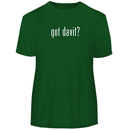 One Legging it Around got Davit? - Men's Funny Soft Adult Tee T-Shirt, Green, Medium