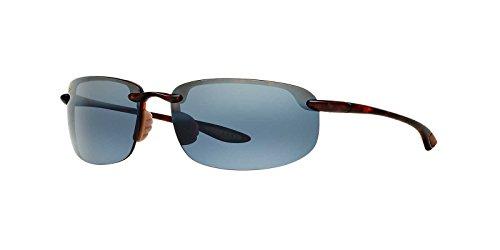 Maui Jim Mens Hookipa 64 Sunglasses (407) Tortoise Matte/Grey Plastic - Polarized - - Okipa Sunglasses Ho