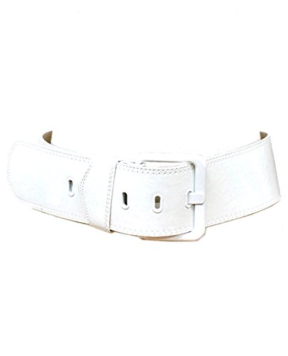 Leather Square Buckle Belt (Women's Fashion Faux Patent Leather Square Buckle Waist Belt,)