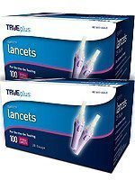 TRUEplus Safety Lancets 28G Single Use 100/box Pack of 2