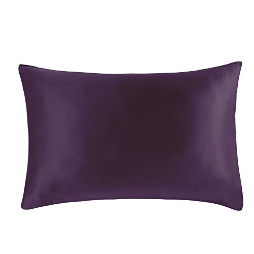 MEILIS SILK Deep Purple Bedding Mulberry Silk Pillowcase 20 by 30 inches Luxurious and Soft Pillow covers