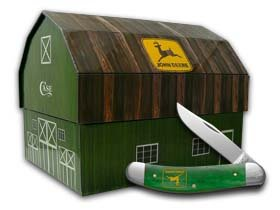 Case Cutlery CA15742 John Deere Sowbelly Barn Box Gift Set Hunting Knives