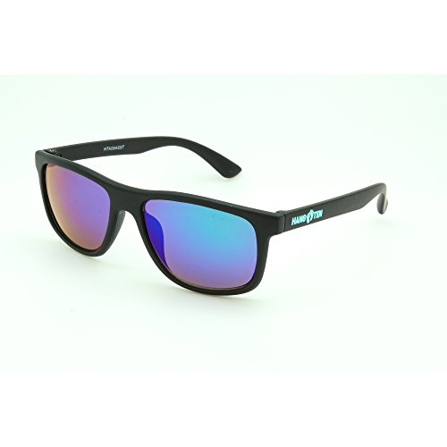 Hang Ten Kids Uv400 Sunglasses, Black With Purple Mirrored - Outline Sunglasses