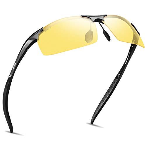 6d0e7e7155e SOXICK Night Driving Glasses - Anti Glare Night Vision Glasses - Safety  Polarized Sunglasses