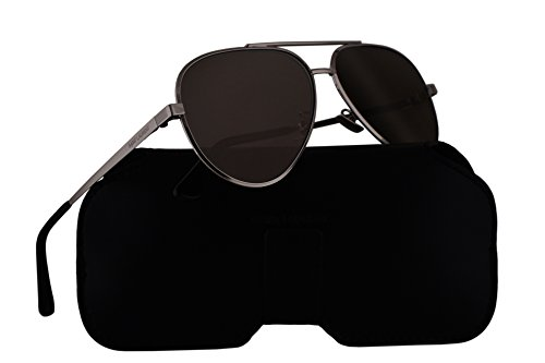 Saint Laurent Sunglasses Classic 11 Zero Silver w/Grey Lens 60mm 001 Classic11 - Laurent Classic Sunglasses Saint 11 Aviator