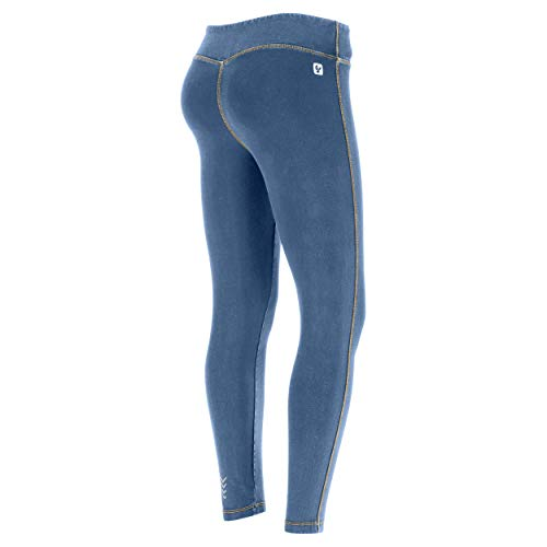 Small Talle Amarillo Body 7 Superfit Efecto Fit 8 costuras Freddy Borrar De Extra Denim Regular Leggings Hugging Jeans gSwZTxxq8