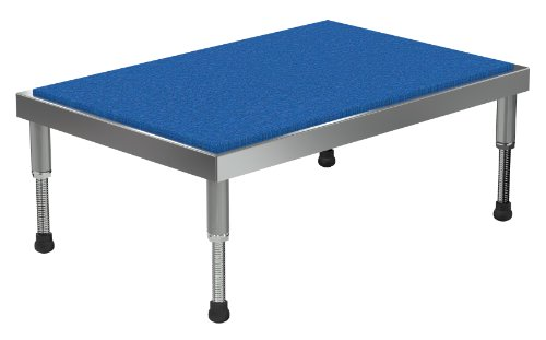 Vestil AHT-H-2436-A Aluminum Adjustable Work-Mate Stand with Ergo Matting Deck, 500-lb. Capacity, 36