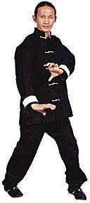 Kung Fu Black w/ White Frog Button Uniform size 6