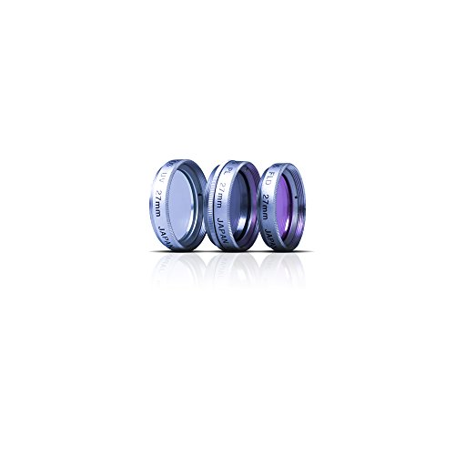 - Zeikos 27mm Multi-Coated, High Definition Glass 3 Piece High Resolution Glass Filter Kit (UV, Fluorescent, Circular Polarizer)