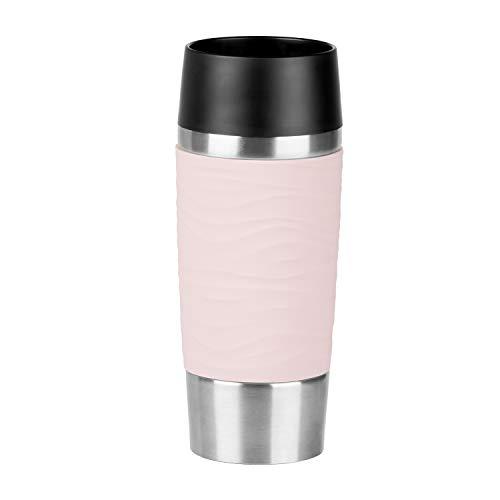 - Emsa N2010600Waves Travel Mug Thermos Mug 18/10Stainless Steel/Powder Pink