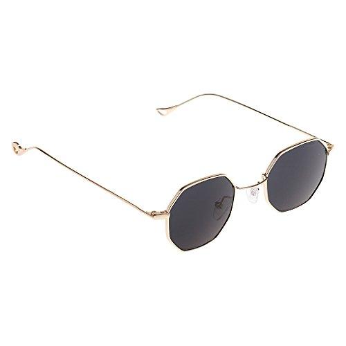 Verano Hombre Octagon 1x Protección Gazechimp UV400 Vendimia Sol para negro de Gafas Mujer de xI0P0U