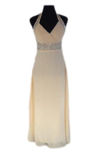 PLAER lang Abendkleid Party Kleid Ball UK Braut Hochzeit Kleid ...