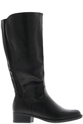 Stivali con tacco 4cm pelle Rod elasticizzata nero