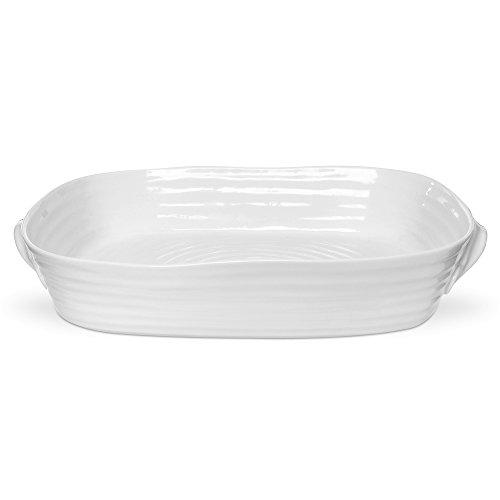 Portmeirion Sophie Conran White Large Handled Rectangular Roasting Dish