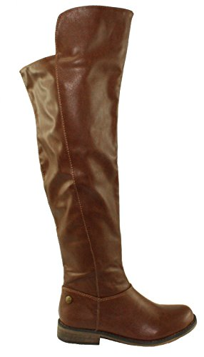 Breckelles Womens Tenesee-17 Over the Knee Riding Boots Tan oaNaD4tVy