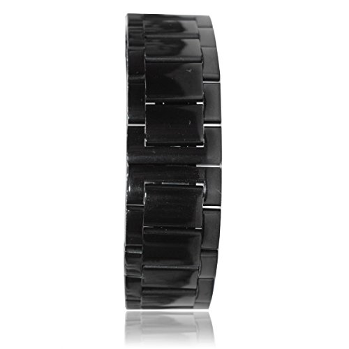 LAAGIE REPLACEMENT Steel Stainless Bracelet Metal Watchband Fit for Moto 360 Smartwatch Motorola Moto 360 Watch Band Plus Free Stainless Spring Bar Tool for Moto 360 Wristband (Matte Black Without Push Button),Stainless Steel Watch Band Watchband Strap Bracelet Specially Designed for Motorola Moto 360 Smartwatch Moto360 Watchband Strap Spring Bar Jeweler Tool (BLACK)