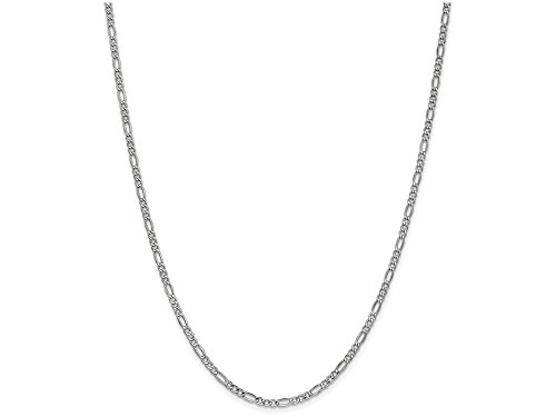 Finejewelers 14k 2.5mm White Gold Figaro Hollow Chain