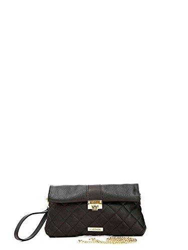 8cdaa960fe Pochette Cafè Noir BIB003 con zip metalliche borsa donna nero