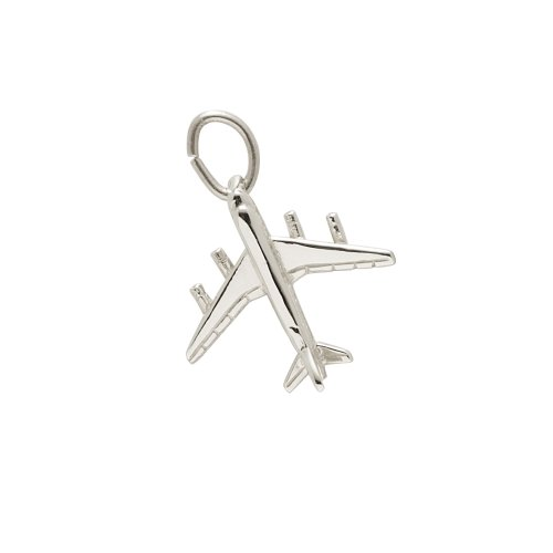 Rembrandt Charms, Airplane, .925 Sterling Silver