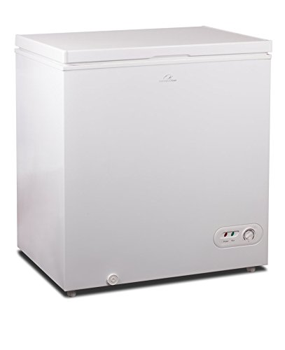 Commercial Cool CCF52W 5.2 Cu. Ft. Chest Freezer with Power on Indicator light and R600a Refrigerant, White