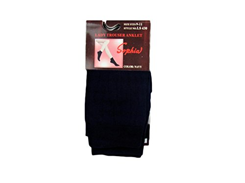 Lady's Trouser Anklet Socks (12pc) (Navy) ()