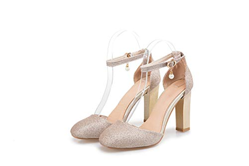 - TRFLH& 2017 New Summer Style Sandals Women Sweet Fashion Big Size 31-45 Lady Shoes Super High Heel Women Pumps Wedding Party Shoes T710 Gold 13