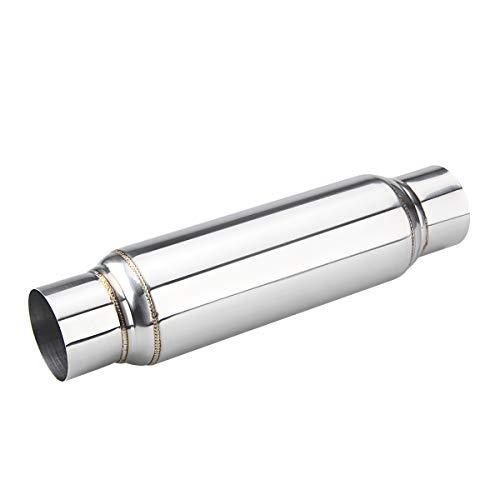 "3"" Universal Resonator,Straight Through Performance Muffler, 16"" Overall Length"