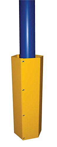 Column Protector - BHEX Series; Overall Height: 48''; Plate Thickness: 1/4''; Fits Square Columns: 11'' x 11''; Fits Round Columns: 15'' Diameter; Powder Coat Finish: Safety Yellow by Beacon World Class Products