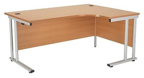 Ergonomia Scrivania Ufficio : Relax scrivania ergonomica per destrimani in faggio per