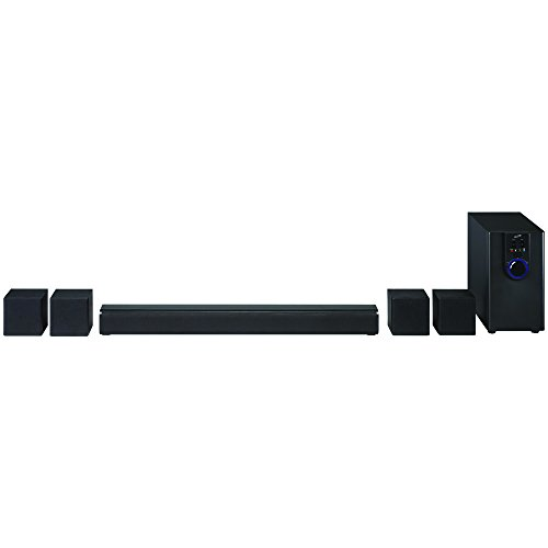 iLive Home Theater System with Bluetooth, 26 Inch Speaker with 4 Satellite Speakers and Subwoofer, Includes Remote, Black (IHTB138B)