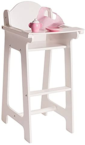 18 Inch Doll Furniture High Chair Set w/ Accessories - Playtime by Eimmie Collection - Doll Furniture High Chair