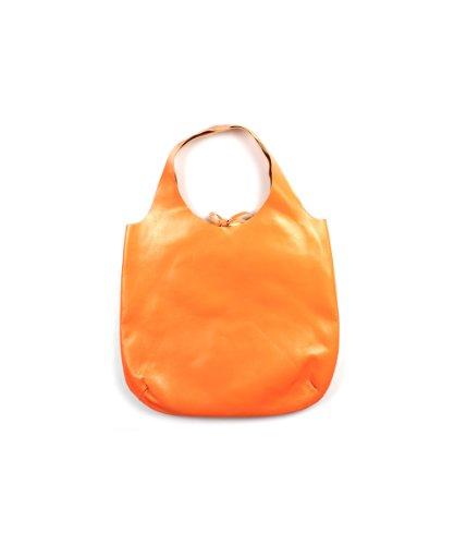 LuRI - Bolso de asas de Piel para mujer Naranja Naranja MANDARINO