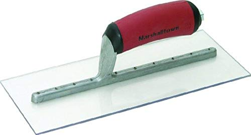 MARSHALLTOWN The Premier Line PMXS1D 11-Inch by 4-1/2-Inch Plastic Finishing Trowel with Curved DuraSoft -