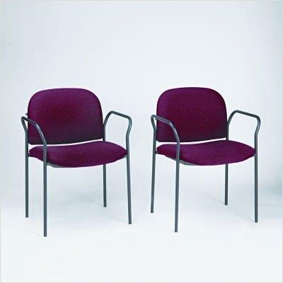 HON 4051AB62T Multipurpose Stacking Arm Chairs, 2 per Carton, Olefin Fabric, Burgundy