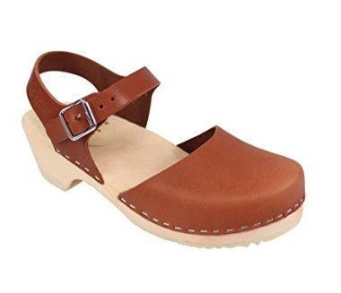 Lotta From Stockholm Low Wood Low Heel Clogs in Tan
