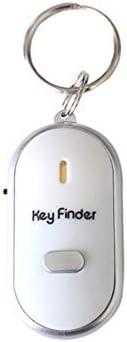 RichnessLong Wireless Whistle Sensor Key Finder Smart Key Finder Anti-lost Whistle Sensor Keychain Tracker LED Whistle Clap Locator