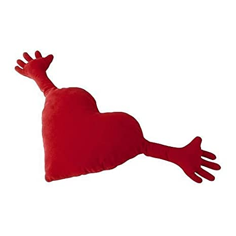 Ikea Famnig Hjarta Valentine Heart Pillow Red Cushions at amazon