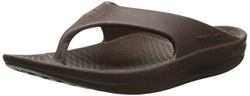 Brown Unisex Flip Flops - Telic Flip Flop Soft Sandle, Espresso Brown, 3XS (US Women's 5)